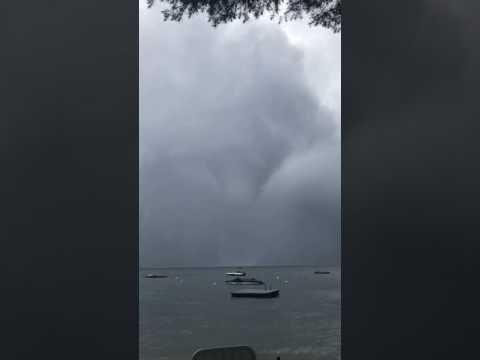 Waterspout Forms in Sebago Lake in Cumberland County, Maine