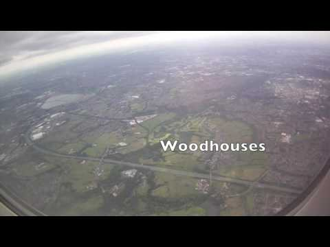 Landing at Manchester Airport, Greater Manchester, England - 3rd July, 2016