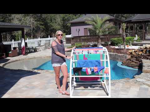 TowelMaid Outdoor Poolside Towel and Storage Rack Review