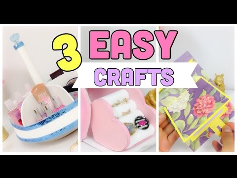 Easy room decor crafts diy gift ideas ring organizer for Diy crafts youtube channels