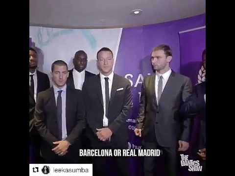 Hazard laughed after Ivanovic said Arsenal it is the biggest club in the world,,😂😂😂
