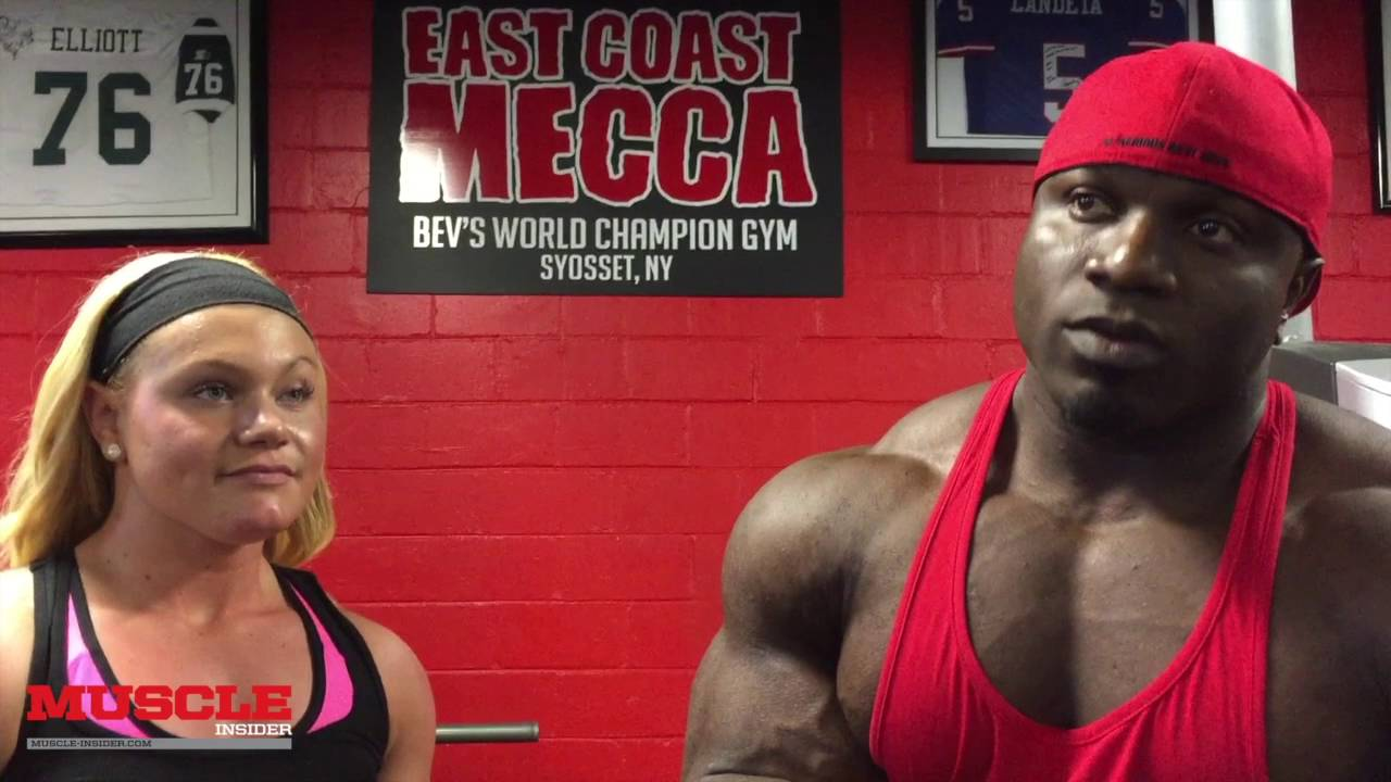 Akim Williams trains delts in The East Coast Mecca