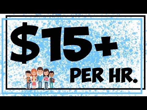 5 Easy Jobs For Students - $15 Per Hour Working From Home