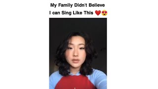 Talented Sister Sings For The First Time ❤