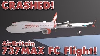 CRASHED! | AirBritain First Class 737MAX Flight! | Roblox