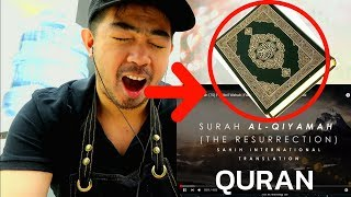 CHRISTIAN LISTENING TO QURAN WITH ENGLISH SUBTITLE FOR THE FIRST TIME Surah Al Qiyamah