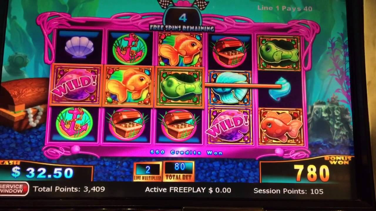 Gold fish race for the gold slot machine bonus big win for Fish slot machine