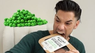 BURGERS MADE FROM PEAS?! REVIEW