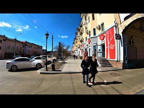 Chita - Walking Lenina Street - Russia / Чита 4К