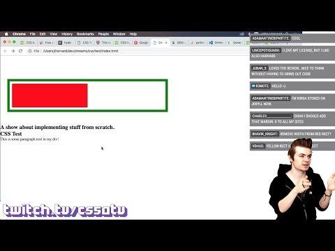 CSS BASICS - CS50 On Twitch, EP. 34