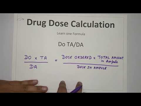 Dosage Calculation (Hindi) Part-1 - Easiest Formula To Calculate In Less Than 1 Minute