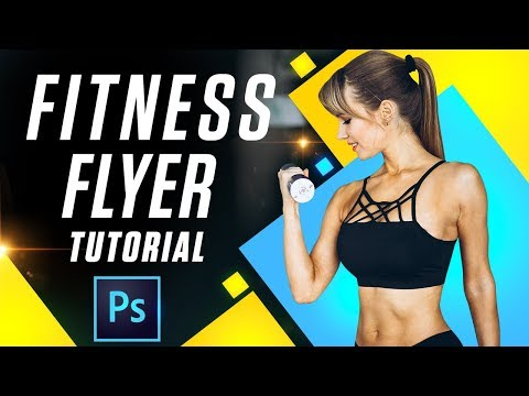 How To Design Fitness Flyer | Photoshop Tutorial | PE60 thumbnail