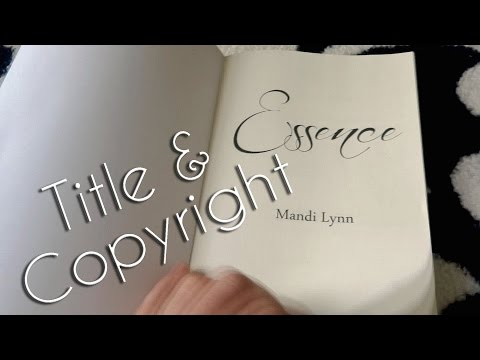 Self-Publishing: Title & Copyright Page