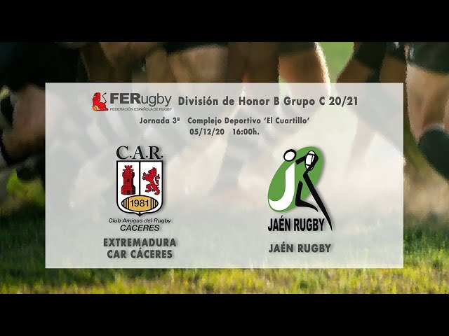 Extremadura CAR Cáceres - Jaén Rugby (División de Honor B 20/21)