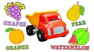 Учим фрукты с грузовичком. Песенки на английском - Английский для детей