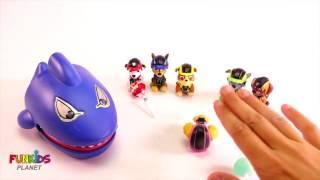 Обучение Цветам Видео Для Детей: Патруль И Гигантская Акула Ест Радугу Chupa Chupa Lollipops