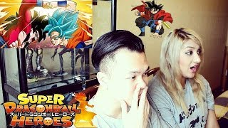Super Dragon Ball Heroes Episode 1 REACTION - GOKU SSJ BLUE VS GOKU SSJ4 - JenXus React