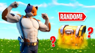 I Can Only Use One RANDOM Chest All Game In Fortnite!