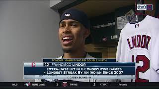 Cleveland Indians streak at 22: Francisco Lindor on Ramirez's hustle, team's mindset