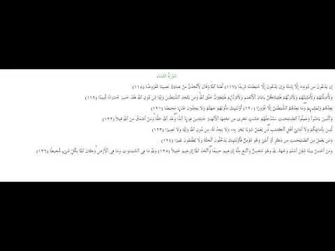 SURAH AN-NISA #AYAT 117-126: 10th June 2020