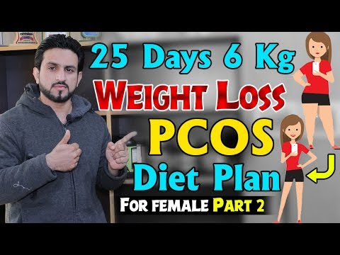 Only 25 Days 6 Kg Weight Loss PCOS Diet Plan Urdu Hindi