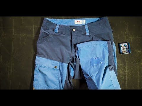 Fjällräven - How to patch a hole in your trousers