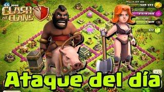 Ataque con Valkirias y Montapuercos - Clash of Clans