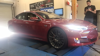 Tesla P100D on the dyno - was streamed live - full edited video due tonight