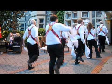 Cardiff Morris dance Y Caseg Eira in Cardiff. 22nd May 2012