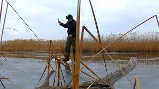 Раскаты Астрахань Зимняя рыбалка 2021 Ловля на жерлицы и балансир Опасный лед