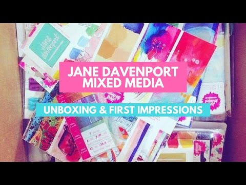 Jane Davenport Mixed Media - UNBOXING & FIRST IMPRESSIONS