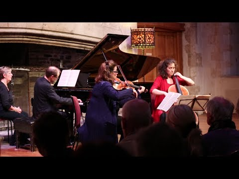 The Gould Piano Trio perform Schubert at Dartington Hall in Devon, UK