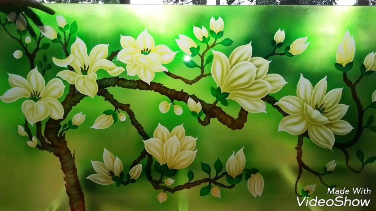 Glass painting designs flowers designs - YouTube