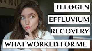 TELOGEN EFFLUVIUM RECOVERY | WHAT WORKED FOR ME | NO B.S. HAIR REGROWTH TIPS
