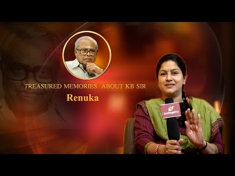 Treasured memories about KB sir - Actress...
