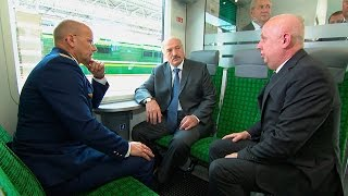 Лукашенко дал старт регулярному движению поездов на электротяге по направлению Гомель-Минск-Гомель(, 2016-06-17T22:54:01.000Z)