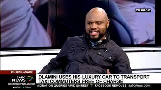 Jabu Dlamini uses his luxury car as a taxi