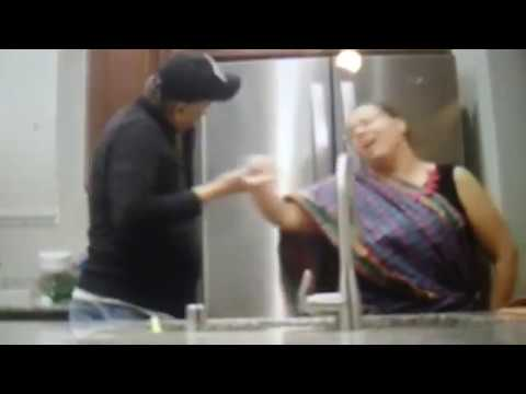 Singing In The Kitchen To A Hindi Song.