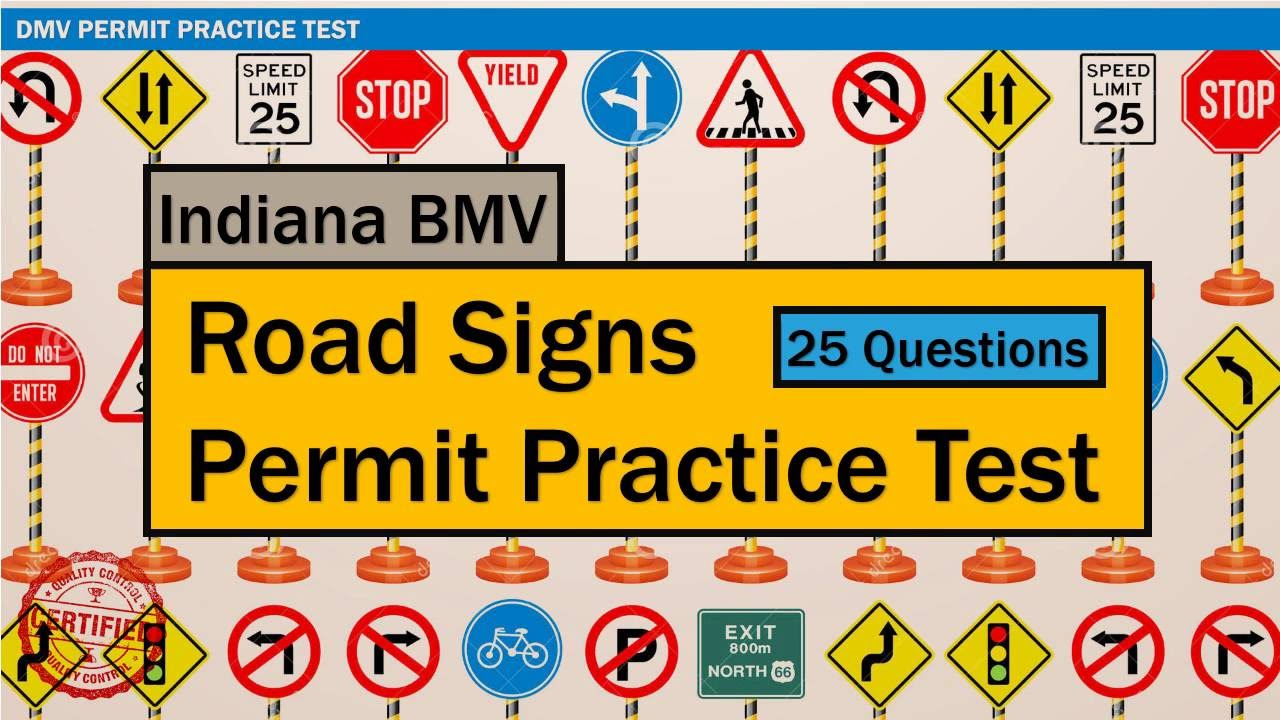 picture regarding Free Printable Road Signs identified as Penned check for guiding: Indiana BMV Street Signs or symptoms Allow Educate Check out