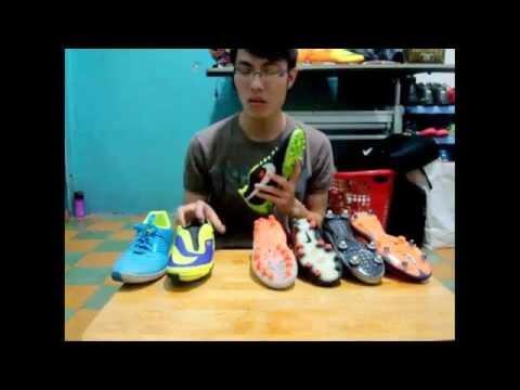 Giới thiệu và so sánh các loại mặt đế của giày đá bóng thông dụng