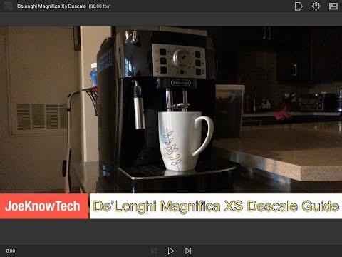 How to Descale Delonghi Magnifica XS Espresso Machine