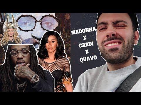Quavo - CHAMPAGNE ROSÉ Feat.Madonna & Cardi B (REACTION) *hm*