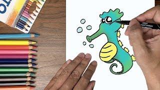 Dạy bé tập vẽ con cá ngựa