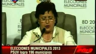 Primeros resultados elecciones municipales Venezuela 2013