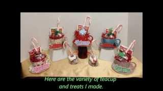 Cricut Cartridge Christmas Teacups With Hot Cocoa & Marshmallow Candycane #2