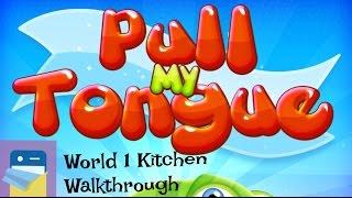 Pull My Tongue: World 1 Kitchen 3-Star Walkthrough Guide & iOS iPad Air 2 Gameplay