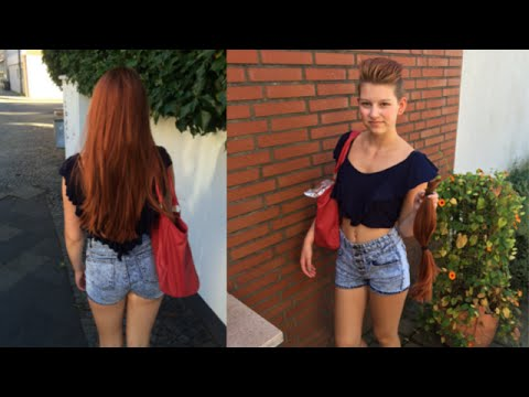 Haare wegschneiden