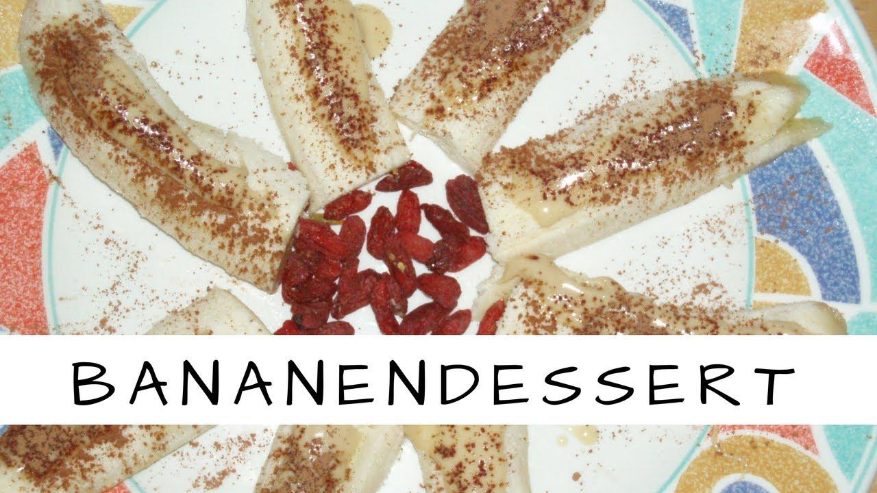 Vegane Rohkost: Bananen- Mandel- Carob Dessert