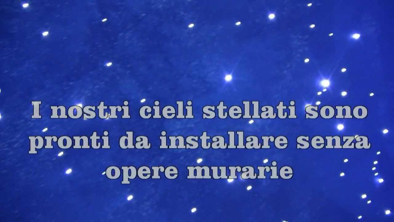 come creare un cielo stellato a led senza opere murarie - youtube - Luci Soffitto Stellato