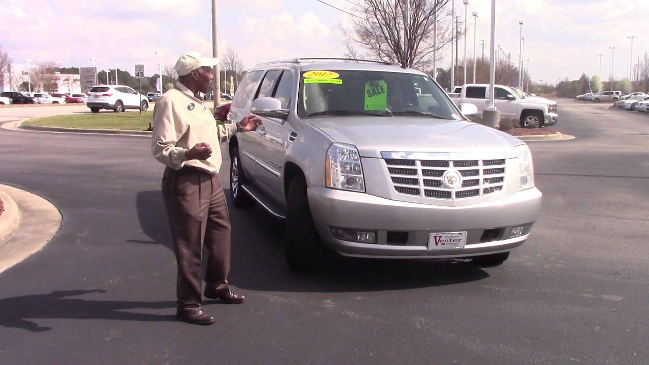 2012 Cadillac Escalade ESV Hubert Vester Chevrolet Wilson, NC